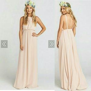 Show Me Your Mumu Amanda Maxi Dress Dusty Blush XS